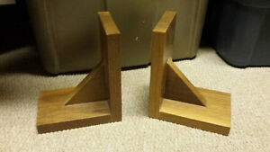 wood book ends