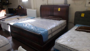 Awesome king size bed complete with New mattress.