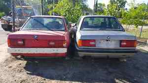 Two 1989 Bmw e30s with m30 engine swap