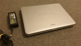 Sony Vaio laptop with charger and good battery life