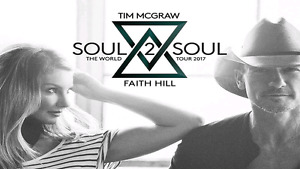 3x Tim McGraw and Faith Hill Soul 2 Soul tickets