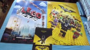 4 LEGO MOVIE POSTERS PACKAGE DEAL!BATMAN&LEGO MOVIE