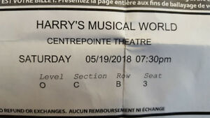 2 Tickets to Harry's Musical World