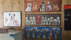 Dalmation & puppy picture frames