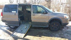 Wheelchair Accessible side load ramp 2006 Pontiac Montana SV6 -