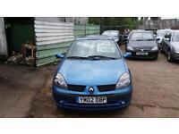 2002 Renault Clio 1.2 16v Expression 3dr