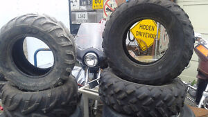 """AT25-8-12""""& 25x10-12"""" DUNLOP ATV TIRES IN GREAT CONDITION"""