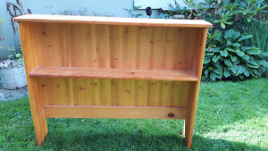 Pine head board/shelf