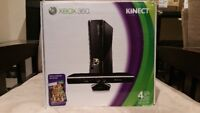 Xbox 360 4GB Console With Kinect Video Game Systems
