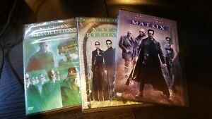 All three Matrix movies on DVD $5 for the set