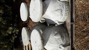 set of 4 large concrete planters