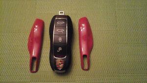Panneau rouge  clé de Porsche boxster cayman  911 Panamera
