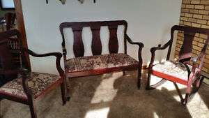 Antique Settee,matching chair and rocker