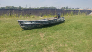 12 ft Aluminum boat with motor
