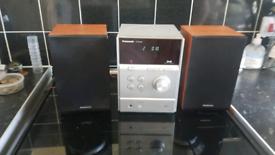 Panasonic mini system mp3 cd dab with remote