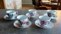 Antique Royal Vale English Bone China Cups & Saucers