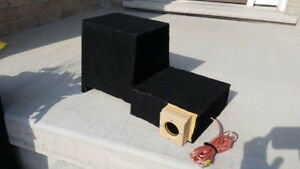 "TRUCK SUBWOOFER CUSTOM BOX 10"" PORTED DOWNFIRING"