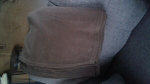TWIN brown blanket
