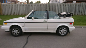 1990 VW Volkswagen Golf Cabriolet Convertible. Automatic.
