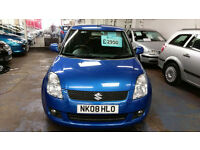 SUZUKI SWIFT 1.3 DDiS DIESEL 5 DOOR MET BLUE ALLOYS ONLY £18 WEEK P/LOAN 2008 08