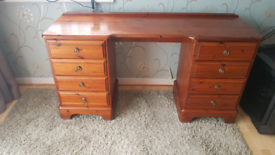 Dressing table and chest of drawers.
