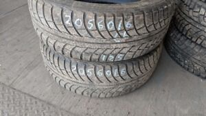 Pair of 2 Gislaved NordFrost5 205/60R16 WINTER tires (65% tread