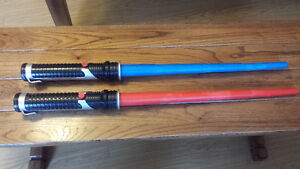 Hasbro Lightsabres (2) Red & Blue