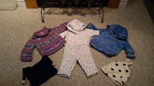 Girls, Baby GAP outerwear sets (with 2 hats).