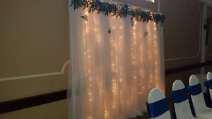 Wedding Backdrop - Flower Centerpiece - Candle - Picture Frame