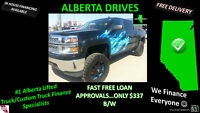 "$337 B/W 2014 6"" LIFT CHEVY SILVERADO 1500 CUSTOM LEATHER & RIMS"