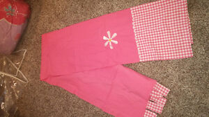 Two curtain panels/pink little girls room