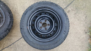 ALMOST NEW WINTER TIRES WITH RIMS SET OF 4!! 215/60R16 London Ontario image 3