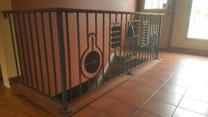 Wought Iron Railing with Kitchen Design