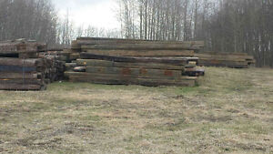 Used landscape railway ties for sale ...contact Lionel at 130673