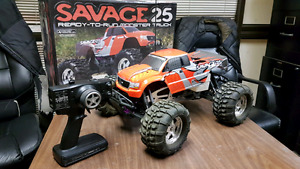 R/C Savage 25 with extras!