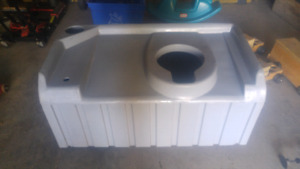 Outdoor toilet base