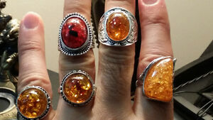 sterling silver rings with amber stones Gatineau Ottawa / Gatineau Area image 5
