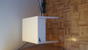 ikea nighstand/ikea purple lamp/ikea mirror/other lamp