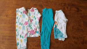 Girl's 2T size Carter's 3 PJ pairs for $10