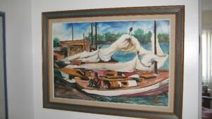 Original Oil Painting by Wade Taylor,  Nassau, Bahamas - 1980