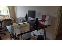 Massive corner desk with additional extenders
