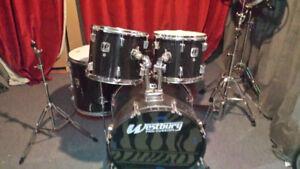 Drums Westbury, peaux Evans G2 & Rototoms
