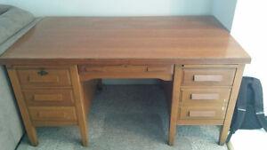 1950's oak desk