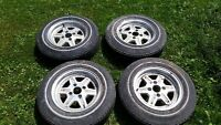 280zx Datsun/Nissan rims and tires, 4 x 114.3 (AE86, 240sx, RX7)