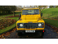Land Rover Defender 110 Special vehicles in Yellow, MOD air port duties.SOLD