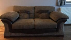 Sofa, curtains and tie backs