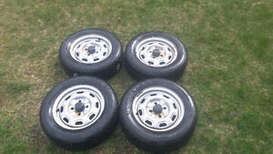 4x114.3 Wheels w/ Tires x4. Studded Winter Tires x3 Salmon Arm