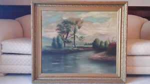 Listed Canadian artist V.A.Booth antique oil painting