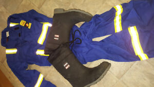 Firewall coveralls & Aggressor steel-toed boots