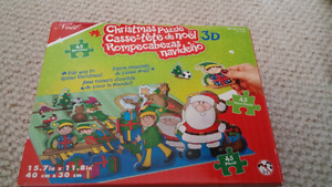 Christmas 3D puzzle - great stocking gift. Lots of fun.